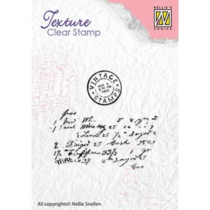 Clear stamps textures writing