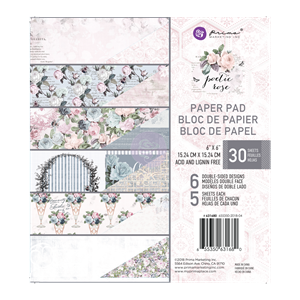 Prima Marketing Poetic Paper 6x6 Inch Paper Pad (631680)