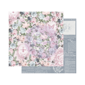 Prima Marketing Poetic Rose 12x12 Inch Sheets Royal Command