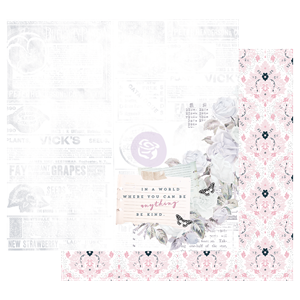 Prima Marketing Poetic Rose 12x12 Inch Sheets Kindness Takes