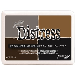 Distress Mixed Media Palette #3 Ink Pad Contains Hickory Sm