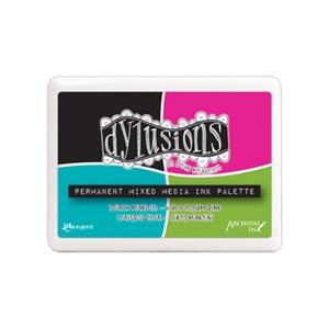 Dylusions Mixed Media Palette #3 Ink Pad Contains Black Mar