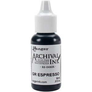 Tim Holtz Distress Archival Reinkers - Ground Espresso