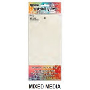 Dylusions Media Paper #12 Tags 5.125 X 10.5 , 10 Pack