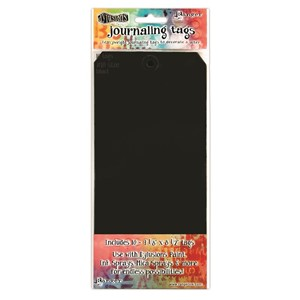 Dylusions Black #10 Tags 4.125 X 8.5, 10 Pack