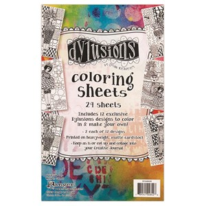 Dylusions Coloring Sheets 5 X 8 Includes 2 each of 12 d