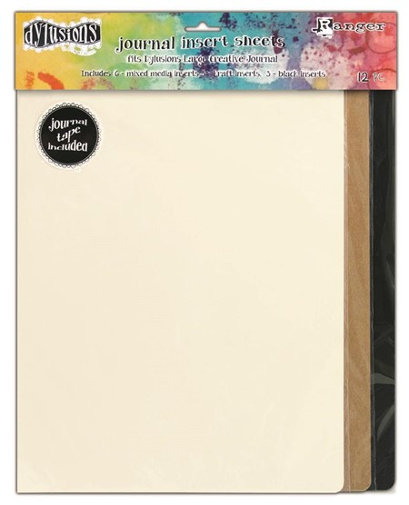 Dylusions Journal Insert Sheets Assortment Large 3 Black, 3