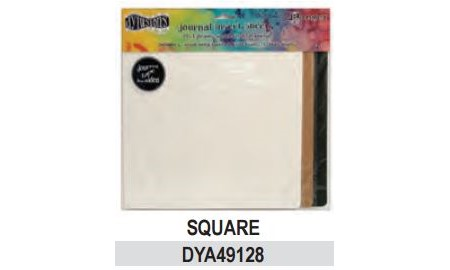 Dylusions Journal Insert Sheets Assortments Square 3 Black,