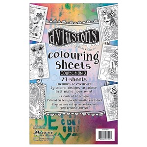 Dylusions Colouring Sheets #2