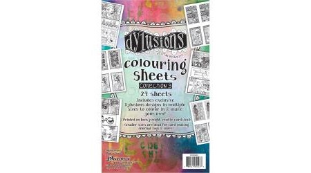 Dylusions Colouring Sheets #3
