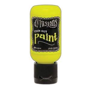 Dylusions Paints 1 oz. Bottle - Lemon Drop