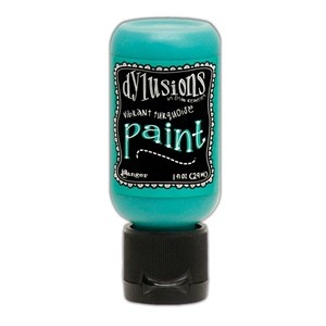 Dylusions Paints 1 oz. Bottle - Vibrant Turquoise