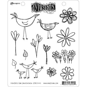 How Does Your Garden Grow, Dylusions stamp