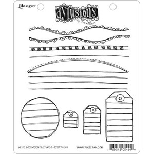 Write Between The Lines, Dylusions stamp