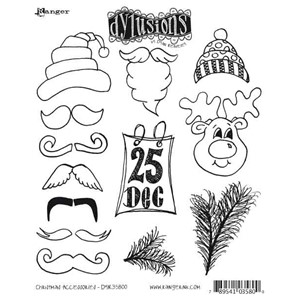 Christmas Accessories, Dylusions stamp