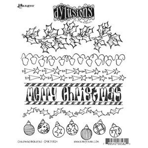 Christmas Borders, Dylusions stamp