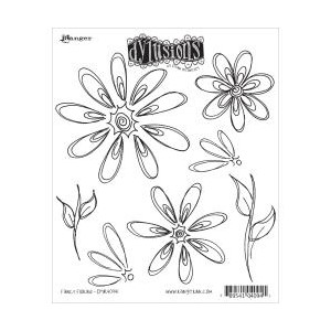 Dylusions Cling StampFancy Florals