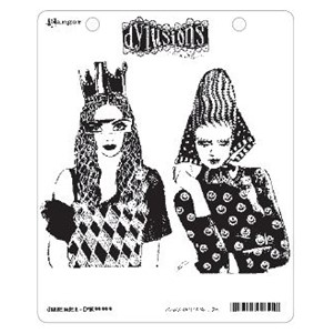 Dylusions Cling Stamp - Surrender