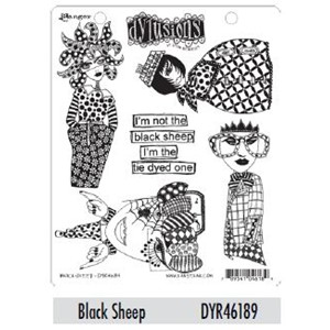 Dylusions Cling Stamp - Black Sheep