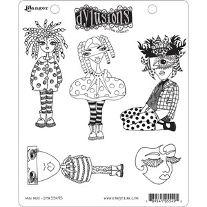 Dylusions Stamp  - Mini Moo