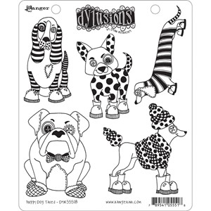 Dylusions Stamp  - Puppy Dog Tales