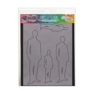 Dylusions Stencils , Silhouette - Fred