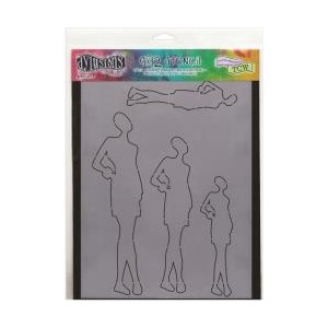 Dylusions Stencils , Silhouette - Ruby