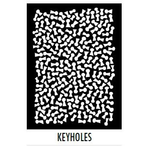 Dylusions Stencils  - Keyholes - Large 9x12