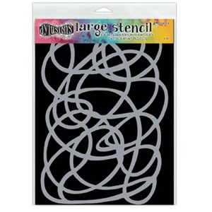 Dylusions Stencils - Squiggle, Large