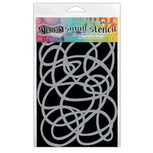 Dylusions Stencils - Squiggle, Small