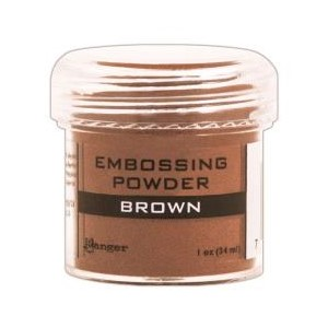 Brown, Opaque / Shiny Embossing Powder