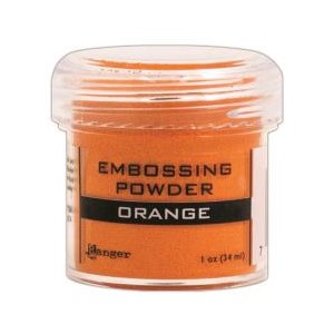 Orange, Opaque / Shiny Embossing Powder