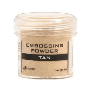 Tan, Opaque / Shiny Embossing Powder