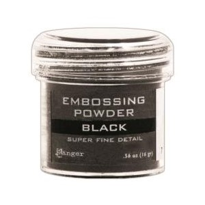 Embossing powder, Super Fine Detail Black