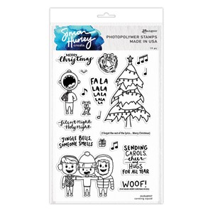 Simon Hurley create. Caroling Squad Photopolymer Stamps (6
