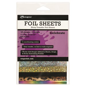 Shiny Transfer Foil 10 sheets/pk- Celebrate