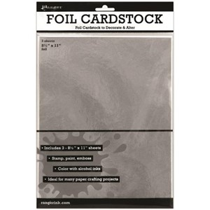 Silver Foil Cardstock 8.5 x 11 3 pack