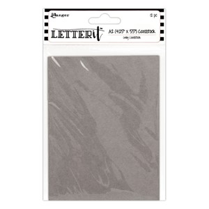 "Letter It Grey Cardstock 4.25"""""""" x 5.5"""""""" 12 Pieces"