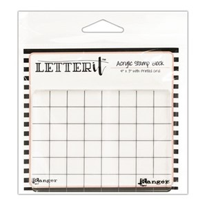 "Letter It Acrylic Stamping Block 4"""""""" x 3"