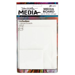 Dina Wakley Media Board Mixed Pack Includes 2- 3 x 3 Pa