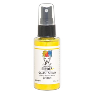 Dina Wakley MEdia Gloss Sprays (2oz) - Lemon