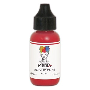 Heavy Body Acrylic Paint Ruby, 1 oz. Bottle