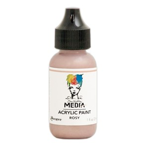 Heavy Body Acrylic Paint Rosy, 1 oz. Bottle