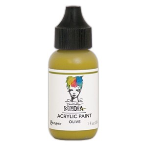Olive - Dina Wakley Media Heavy Body Acrylic Paints 1 oz. Bo
