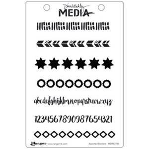 Dina Wakley Media Cling Stamps - Assorted Borders