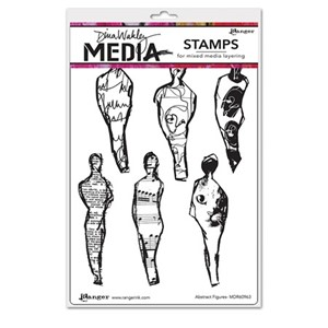 Dina Wakley Media Cling Stamps - Abstract Figures