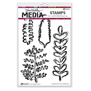 Dina Wakley Media Stamps - Scribbled Branches