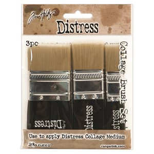 Distress Collage Brush 3 Pack Assortment Includes 1 3/4""