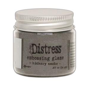 Distress Embossing Glaze - Hickory Smoke