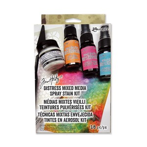 Distress Mixed Media Spray Stain Kit Includes 3 Mini Distre